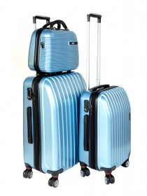Комплект чемоданов AlezaR Line - L, M, Бьюти-кейс